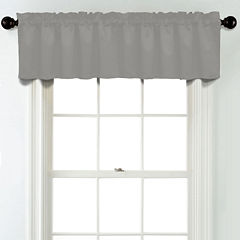 JCPenney Home Matte Satin Rod Pocket Poly-Cotton Lined Tailored Valance