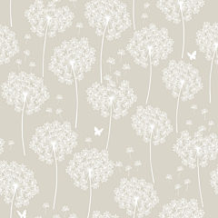 Dandelion Taupe Peel-and-Stick Wallpaper