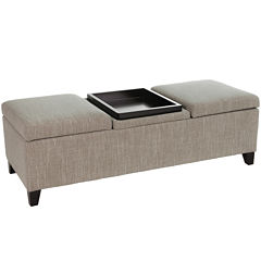 Colter Tray-Top Storage Bench