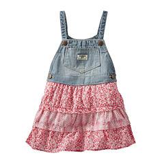 OshKosh B'gosh® Sleeveless Tiered Denim Skirtall - Baby Girls 3m-24m