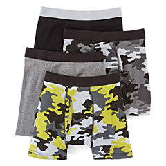 Arizona 4-pk. Camo Boxer Briefs – Boys & Husky 4-20