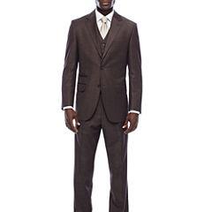 Steve Harvey® Brown Shantung Suit Separates
