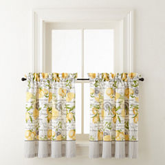 Home Expressions Lemon Zest Rod-Pocket Window Tiers