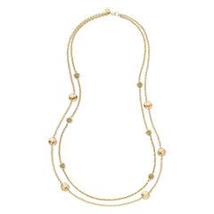 Monet® Yellow Stone Gold-Tone Station Necklace