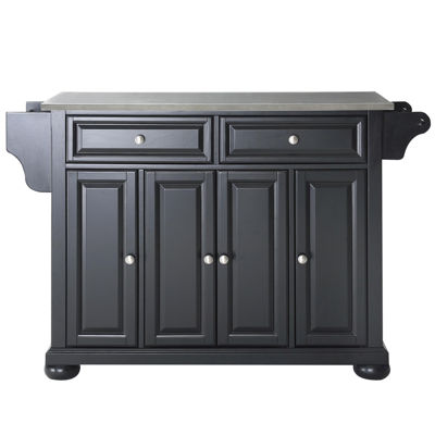 Caldwell Stainless Steel Top Kitchen Island
