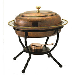 Old Dutch Oval Antique Copper over Stainless SteelChafing Dish 6 Qt