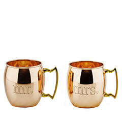 Old Dutch Mr and Mrs Solid Copper Moscow Mule Mugs16 Oz Set of 2