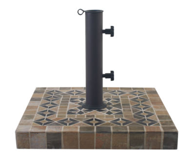 outdoor interiors 20 in square dark sandstone umbrella base