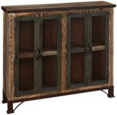 International Furniture Direct Antique Multicolor 4 Door Sideboard