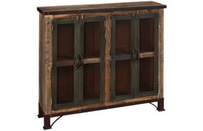 International Furniture Direct Antique Multicolor 4 Door