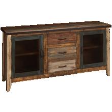 International Furniture Direct Antique Multicolor 2 Door 3 Drawer Sideboard