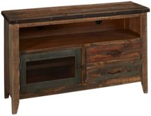 "International Furniture Direct Antique Multicolor 52"" Media Unit"