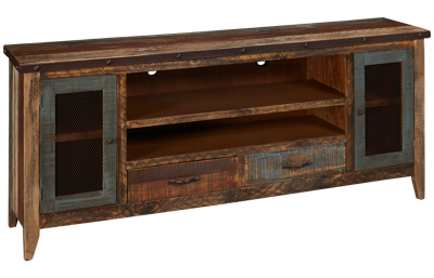 "International Furniture Direct Antique Multicolor 76"" Media Unit"