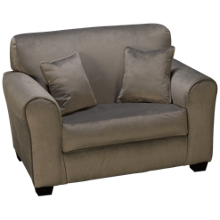 Kidz World Tween Loveseat with 2 Toss Pillows