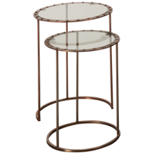 Hekman Cooper Rivet Nesting Tables