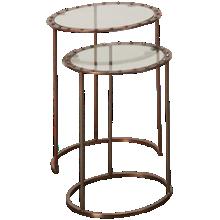 Hekman Cooper Rivet Nesting Tables