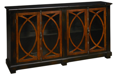 Hekman Circle 4 Door Lattice Entertainment Center