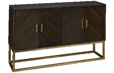 Hekman Chevron 4 Door Cabinet