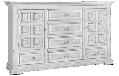 International Furniture Direct Terra 6 Drawer, 2 Door Dresser