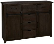 Jofran Madison County 6 Drawer 2 Door Dresser