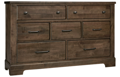 Vaughan-Bassett Cool Rustic 7 Drawer Dresser