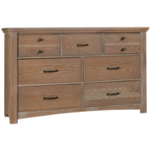 Vaughan-Bassett Transitions 7 Drawer Dresser