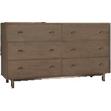 Universal Spaces 6 Drawer Tanner Dresser