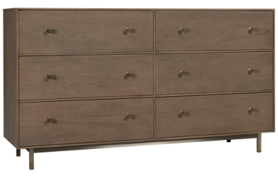 Universal Spaces 6 Drawer Tanner Dresser