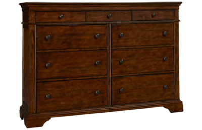 Klaussner Home Furnishings Trisha Yearwood Home Daisy 9 Drawer Dresser
