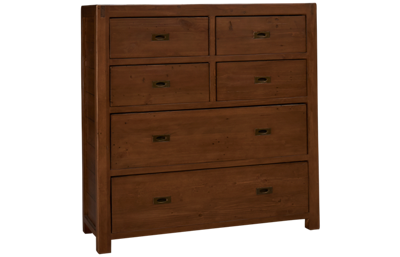 Four Hands Post And Rail 6 Drawer Tallboy