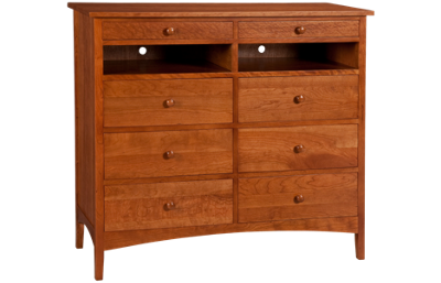 A America  Cherry Garden 8 Drawer TV Chest
