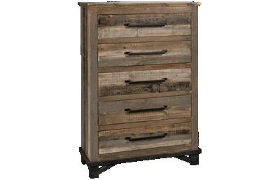 International Furniture Direct Loft Brown 5 Drawer Chest