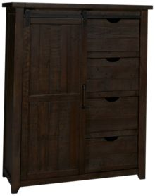 Jofran Madison County 4 Drawer 1 Door Chest