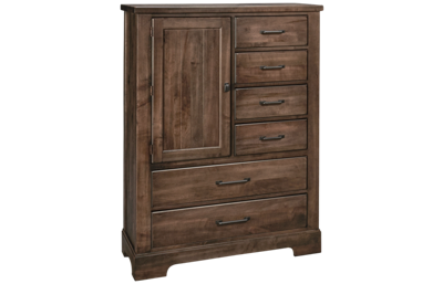 Vaughan-Bassett Cool Rustic 6 Drawer 1 Door Standing Chest