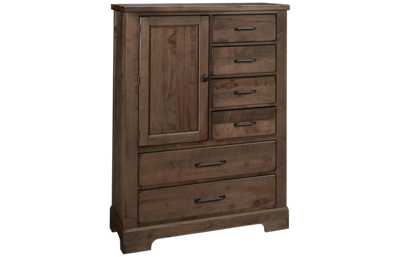 Vaughan-Bassett Cool Rustic 6 Drawer 1 Door Standing