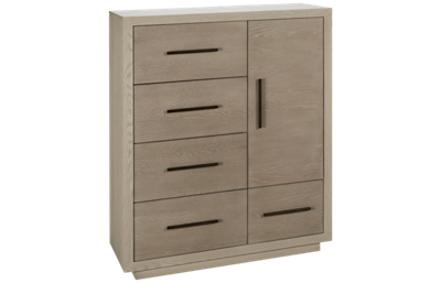 Universal Modern Spirit 5 Drawer 1 Door Dressing Chest