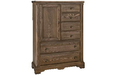 Vaughan-Bassett Heritage 6 Drawer 1 Door Chest