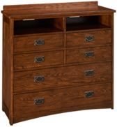Intercon Oak Park 5 Drawer Media Chest