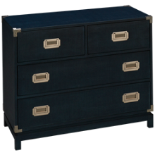 Universal Coastal Living Campaign 4 Drawer Chest