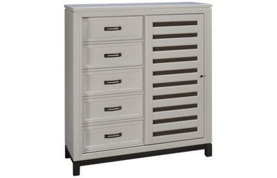 Aspen Hyde Park 5 Drawer Chest with Sliding Door