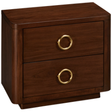 Casana Sarah Richardson Boulevard 2 Drawer Nightstand with USB