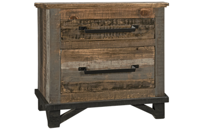 International Furniture Direct Loft Brown 2 Drawer Nightstand