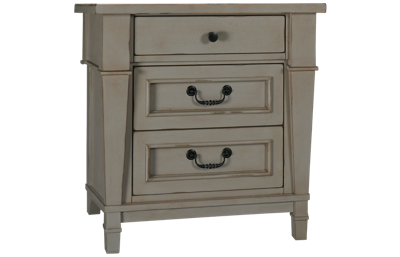 Folio 21 Furniture Stone Harbor 3 Drawer Nightstand