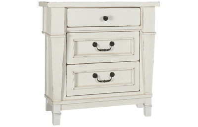 Folio 21 Furniture Stoney Creek 3 Drawer Nightstand