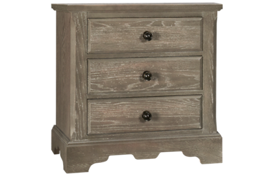 Vaughan-Bassett Heritage 3 Drawer Nightstand