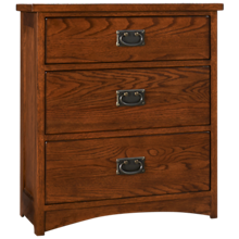 Intercon Oak Park 3 Drawer Nightstand