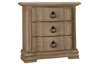 Vaughan-Bassett Rustic Hills 3 Drawer Nightstand