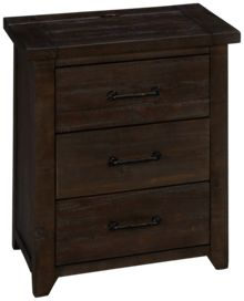 Jofran Madison County 3 Drawer Nightstand
