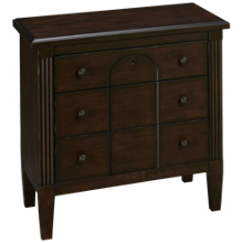 Klaussner Home Furnishings Charleston Lane 3 Drawer Nightstand