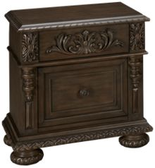 Klaussner Home Furnishings Versailles 2 Drawer Nightstand